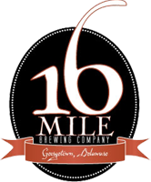 16 mile brewing company logo in georgetown delaware