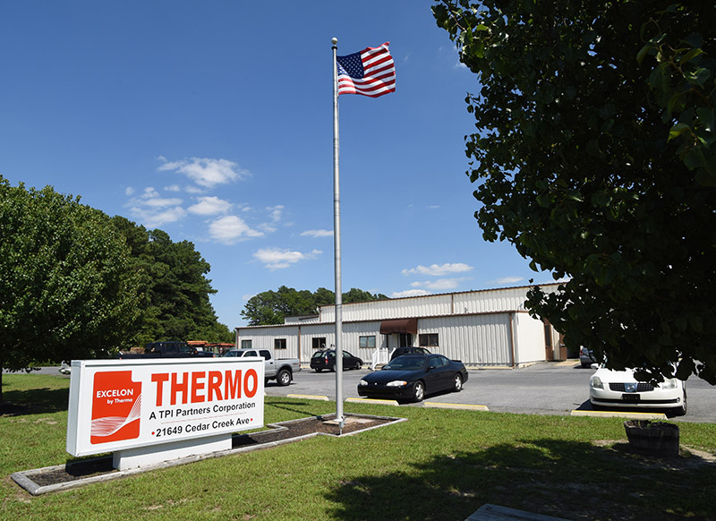 business sign and office building for thermo in sussex county