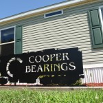 front of office building with cooper bearings sign