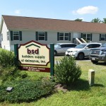 builders supply of delmarva office with vehicles parked out front
